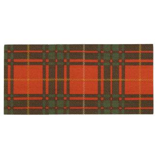 Tartan d'écossais de plaid de clan de Crosby Clé USB 3.0 En Bois