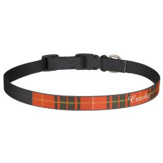 Tartan d'écossais de plaid de clan de Crosby Collier Pour Chien