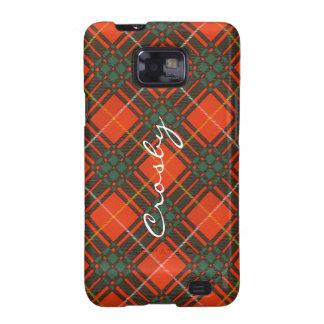 Tartan d'écossais de plaid de clan de Crosby Étui Samsung Galaxy SII