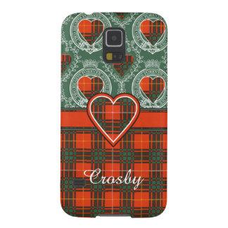 Tartan d'écossais de plaid de clan de Crosby Coques Pour Galaxy S5