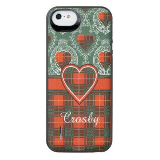 Tartan d'écossais de plaid de clan de Crosby Coque Batterie Pour iPhone SE/5/5s