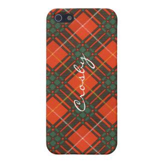 Tartan d'écossais de plaid de clan de Crosby Coque iPhone 5
