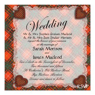 Tartan d'écossais de plaid de clan de Crosby Carton D'invitation 13,33 Cm
