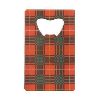 Tartan d'écossais de plaid de clan de Crosby Ouvre-bouteille Format Carte De Crédit