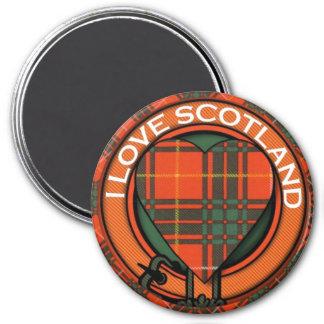 Tartan d'écossais de plaid de clan de Crosby Magnet Rond 7,50 Cm