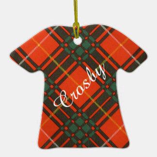 Tartan d'écossais de plaid de clan de Crosby Ornement T-shirt En Céramique