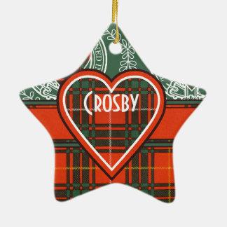 Tartan d'écossais de plaid de clan de Crosby Ornement Étoile En Céramique