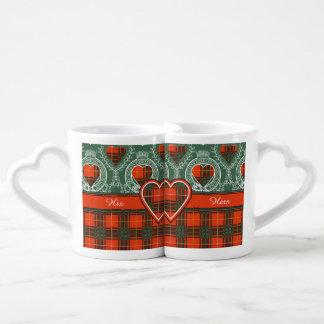 Tartan d'écossais de plaid de clan de Crosby Set Tasses Duo