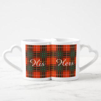 Tartan d'écossais de plaid de clan de Crosby Tasse Duo