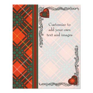 Tartan d'écossais de plaid de clan de Crosby Prospectus 11,4 Cm X 14,2 Cm