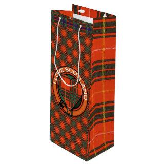 Tartan d'écossais de plaid de clan de Crosby Sac Cadeau Bouteille De Vin