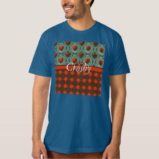 Tartan d'écossais de plaid de clan de Crosby T-shirts