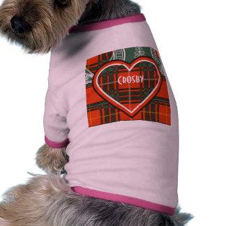 Tartan d'écossais de plaid de clan de Crosby T-shirt Ringer Pour Chien