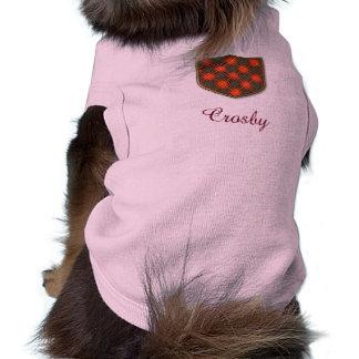 Tartan d'écossais de plaid de clan de Crosby T-shirt Pour Chien