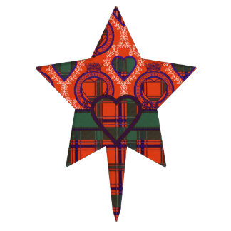 Tartan d'écossais de plaid de clan de Dalzell Piques À Gâteau