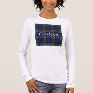 Tartan d'écossais de plaid de clan de Graham T-shirt À Manches Longues