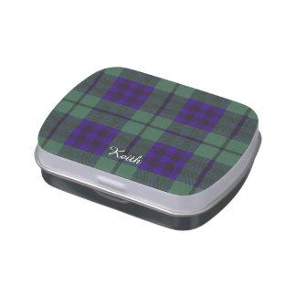 Tartan d'écossais de plaid de clan de Keith Boites Jelly Belly