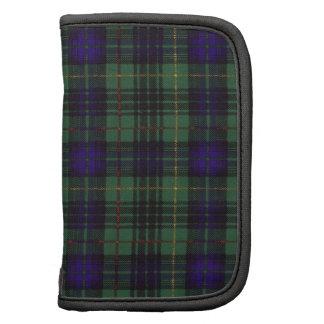 Tartan écossais de kilt de plaid de clan de agenda