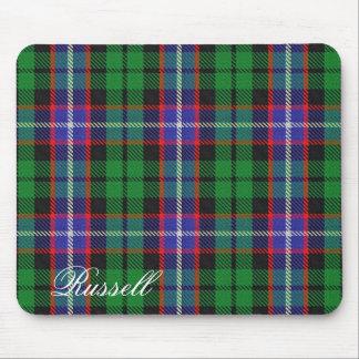 Tartan écossais majestueux de Russell de clan Tapis De Souris