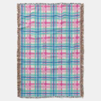 Tartan, motif de plaid couvre pied de lit
