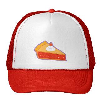 Tarte aux cerises avec la crème fouettée casquette trucker
