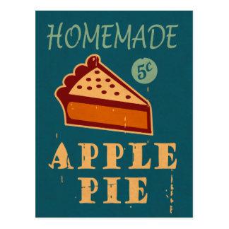 Tarte aux pommes carte postale