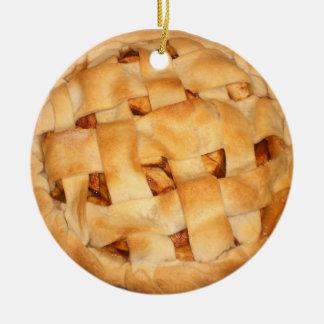 Tarte aux pommes cuite au four ornement rond en céramique