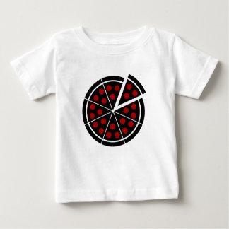 Tarte de pizza - pochoir foncé t-shirt pour bébé