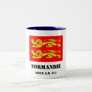 Tasse 2 Couleurs 2 léopards  - Normandie - since A.D. 911