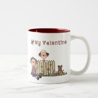 Tasse 2 Couleurs Abeille de Ragdoll mon Valentine