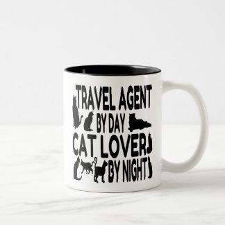 Tasse 2 Couleurs Agent de voyage d'amoureux des chats