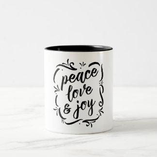 Tasse 2 Couleurs Amour fantaisie et joie de paix