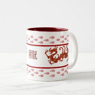Tasse 2 Couleurs Année chinoise du dragon
