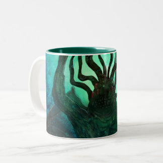Tasse 2 Couleurs Art de bouclage de Lovecraft Cthulhu Mythos