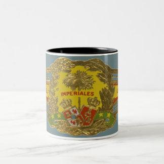 Tasse 2 Couleurs Art vintage d'étiquette de cigare, Manuel Lopez