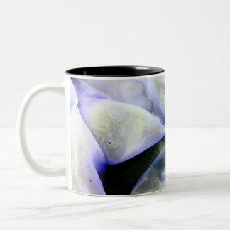 Tasse 2 Couleurs Beaux blanc abstrait et bleu