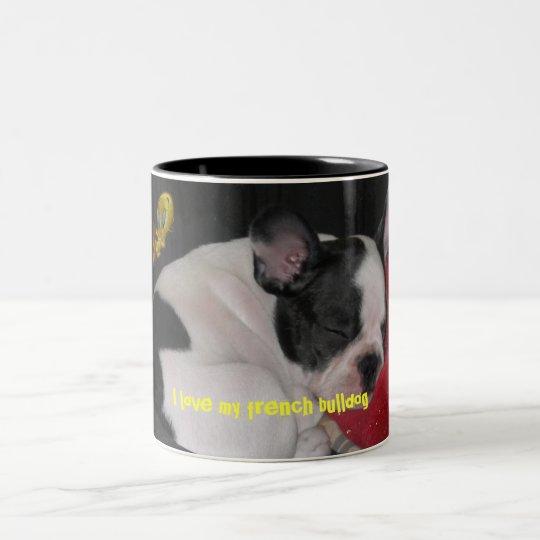 Tasse 2 Couleurs boule, I love my french bulldog