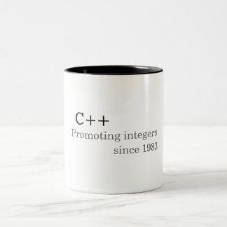 Tasse 2 Couleurs C++: Favorisant des nombres entiers depuis 1983