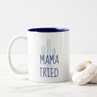 Tasse 2 Couleurs Cactus Coffee drôle de maman Tried