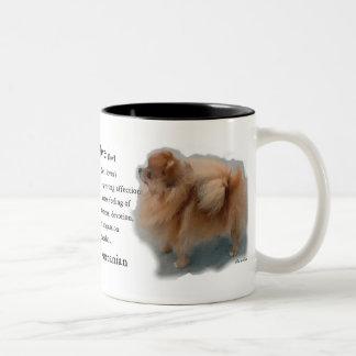 Tasse 2 Couleurs Cadeaux d'amants de Pomeranian