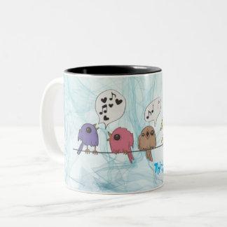Tasse 2 Couleurs Café Mug* de collecteurs de ressort de *Think