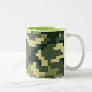 Tasse 2 Couleurs Camouflage/Camo de région boisée de pixel de 8