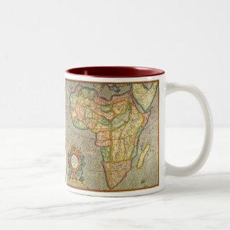 Tasse 2 Couleurs Carte antique de Mercator de Vieux Monde de