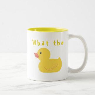 Tasse 2 Couleurs Ce qui le canard ?