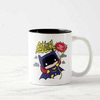 Tasse 2 Couleurs Chibi Batgirl prêt pour l'action