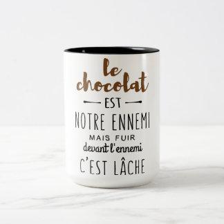 TASSE 2 COULEURS CHOCOLAT