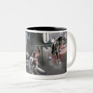 Tasse 2 Couleurs Copie d'écran : Cyborg contre Nightwing
