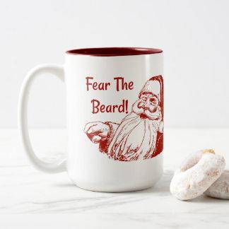 Tasse 2 Couleurs Crainte drôle de Noël la barbe Père Noël