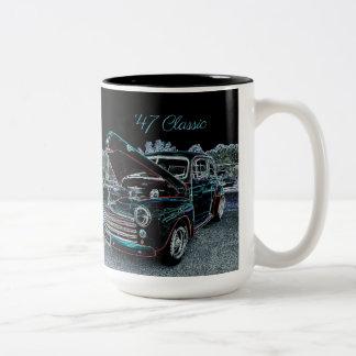 Tasse 2 Couleurs De 'tasse de café d'automobile 47 classiques