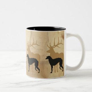 Tasse 2 Couleurs Deerhound & deer